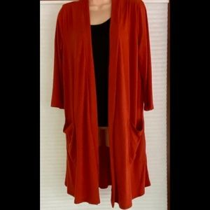 Rust colored 3/4 length sleeves duster!